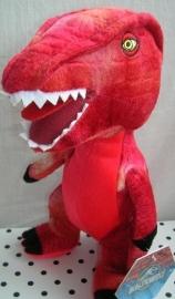 Jurassic World dinosaurus Raptor knuffel rood