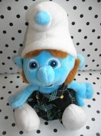 Gutsy smurf knuffel in schots rokje | The Smurfs Peyo
