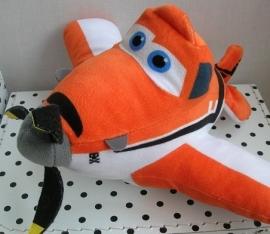 Planes Dusty Disney knuffel vliegtuig oranje | Nicotoy