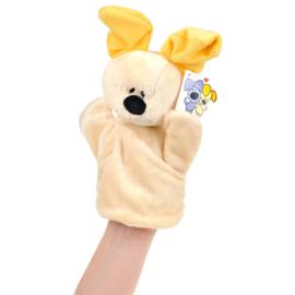 Woezel en Pip knuffel handpop hondje Pip | Tiamo