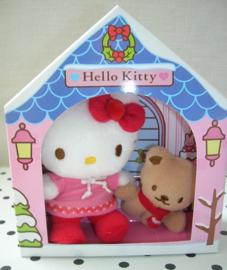 Hello Kitty knuffel met beertje | Sanrio