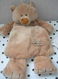 Bruno beer knuffeldoek bruin | Tiamo
