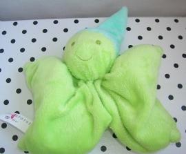 Knuffeldoek softdoek groen klein model | Kring Apotheek