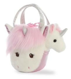 Eenhoorn unicorn knuffel in tasje | Aurora