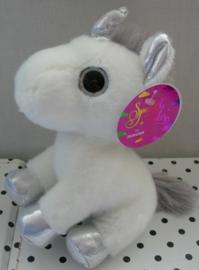 Eenhoorn unicorn knuffel zilver | Sparkle Tales Aurora
