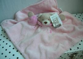 Knuffeldoekje comforter beer roze | BabyTown