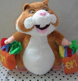 Hamster knuffel met boodschappentassen | Albert Heijn