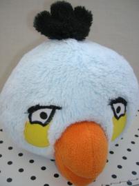Angry Birds knuffel vogel Blue Bird blauw