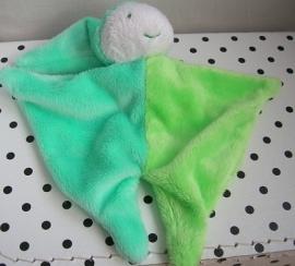 Knuffeldoekje pierrot harlekijn groen | Difrax