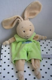 Konijn Lapin knuffeldoekje groen | Anna Club Plush