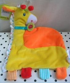 Giraffe knuffeldoekje oranje/geel | Nicotoy