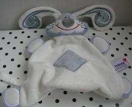 Konijn knuffeldoekje wit/zilverkleurig | Prenatal