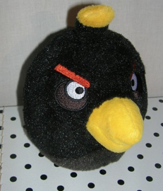 Angry Birds knuffel vogel Black Bird zwart