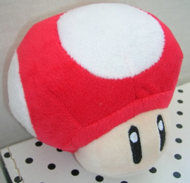 Toad knuffel rood/wit