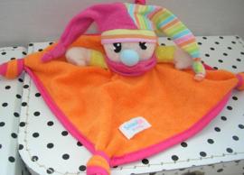 Clown knuffeldoekje oranje/roze | Simba Baby