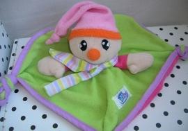 Clown knuffeldoekje groen/roze | Simba Baby