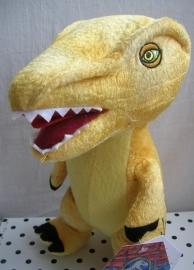 Jurassic World dinosaurus Raptor knuffel geel