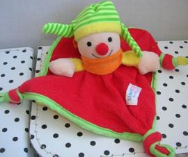 Clown knuffeldoekje rood/geel | Simba Baby