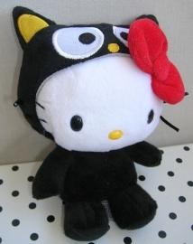 Hello Kitty knuffel zwart verkleedpakje poes | Sanrio