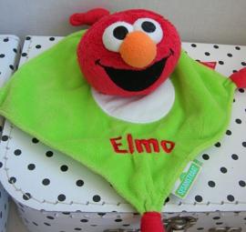 Sesamstraat Elmo knuffeldoekje groen | Tiamo
