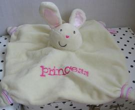Konijn knuffeldoek ecru Princess | Harrods