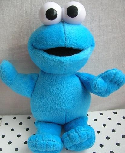 Sesamstraat Koekiemonster knuffel blauw | Fisher Price