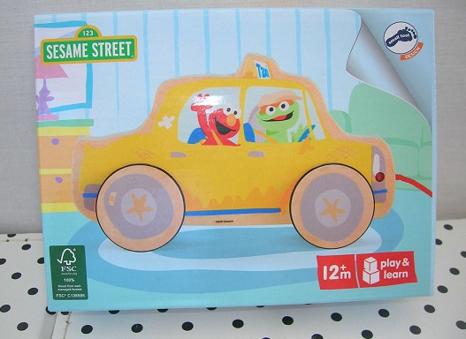 Sesamstraat Elmo in de taxi | hout | Pull Along