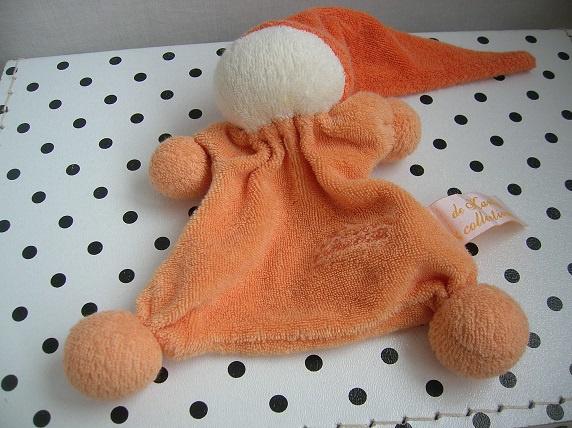 Knuffeldoekje tutpopje oranje | Tiamo De Kandeel