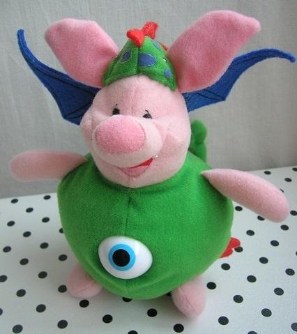 Knorretje Piglet Disney Dragon knuffel één-ogige draak   Disneystore