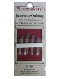 Piecemakers Betweens/Quilting size 8/12 Assorted