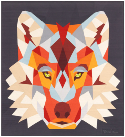 The Wolf abstractions quilt - Muster