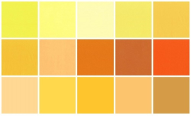 Color samples yellow