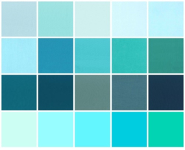 Color samples aqua