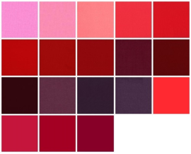 Color samples red