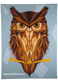 LOUIS the Owl - pattern and fabric