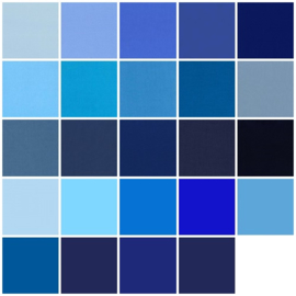 Color samples blue