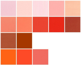 Color samples orange