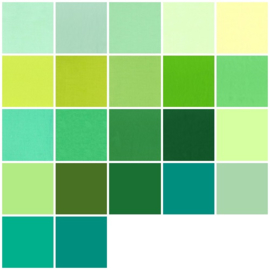 Color samples green