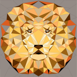 The Jungle abstractions quilt Savannah Lion - kit
