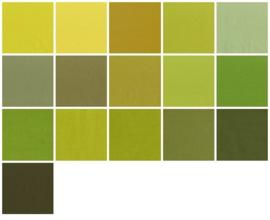 Kleurstaaljes geelgroen