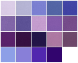 Color samples purple