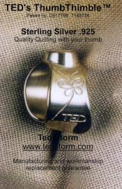 TED's Thumbtimble  Sterling Silver .925