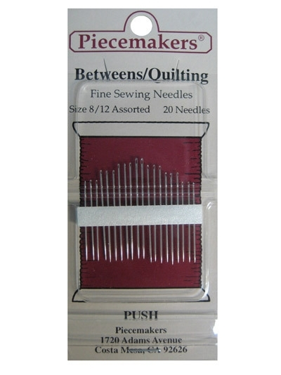 Piecemakers Betweens  Quilting size 8/12 Assorted