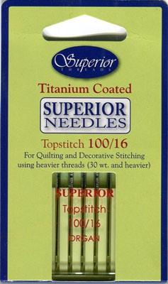 Superior Topstitch Needles 100/16