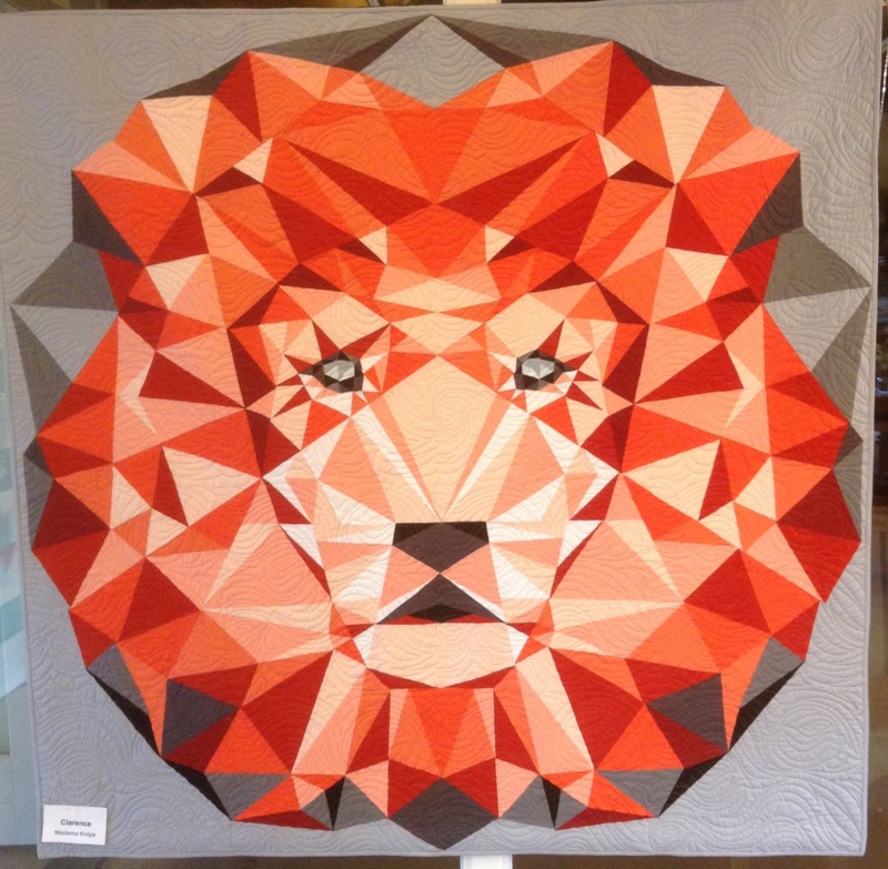 The Jungle abstractions quilt the Lion  - FABRIC kit