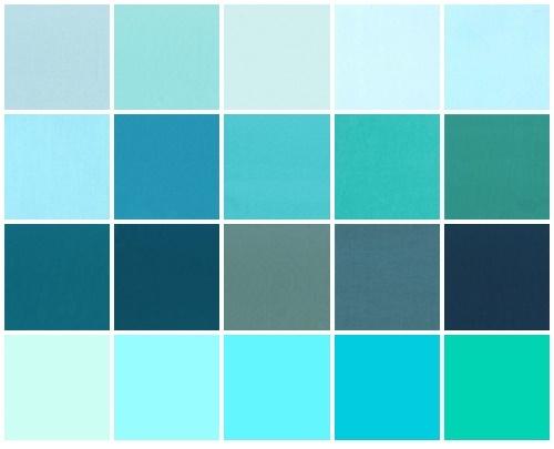 Kleurstaaltjes aqua