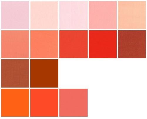 Color samples orange