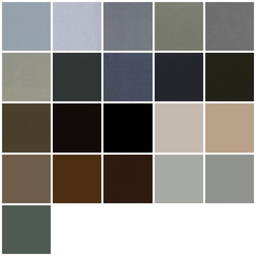 Color samples  gray, taupe and black