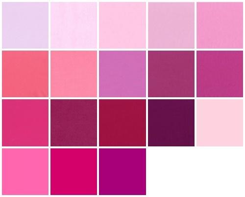 Color samples fuchsia