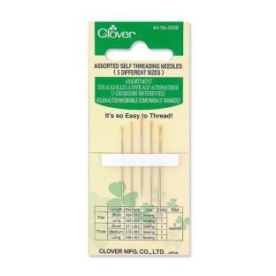 Clover Self Threading needles